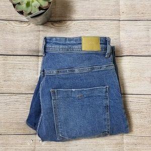 Zara high waisted medium wash jeans